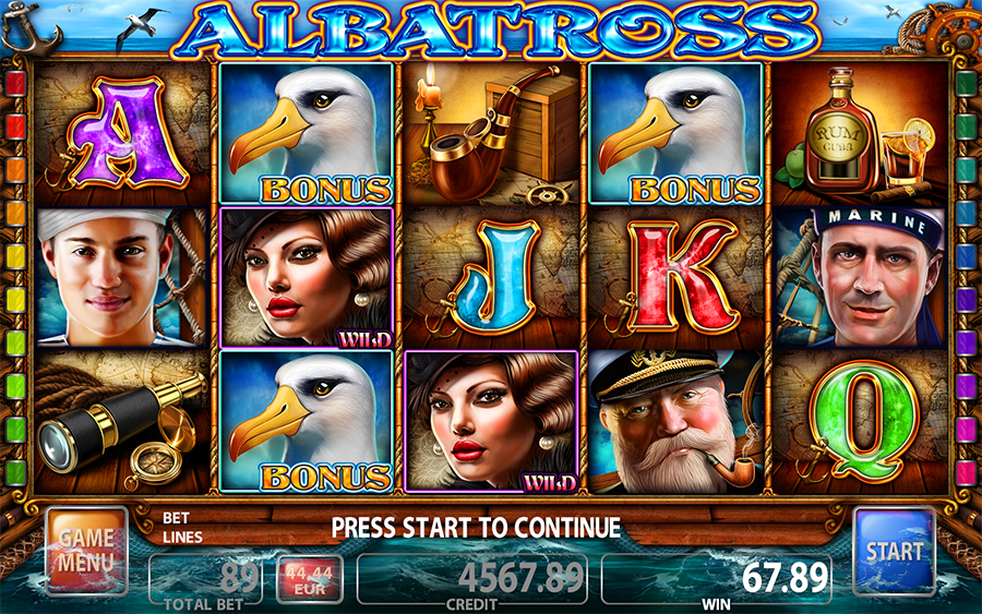 Albatross Video Slot Game - Main Game Mode