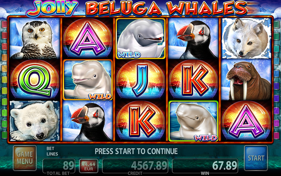 Jolly Beluga Whales Video Slot Game - Free Games Mode