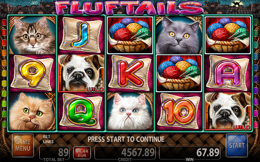 Fluftails - Cats Slot Game - Main Screen