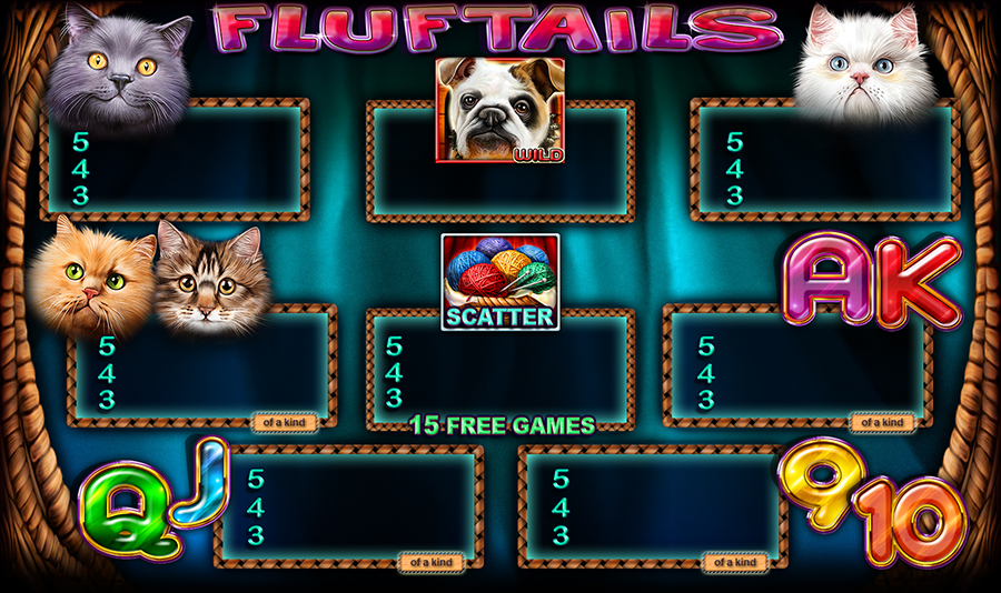 Fluftails- Cats Slot Game - Paytable
