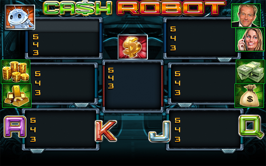 Cash Robot Video Slot Game - Paytable