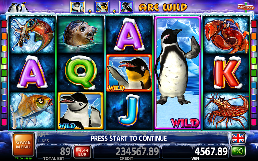 Lucky 3 Penguins Video Slot Game - Free Games Mode