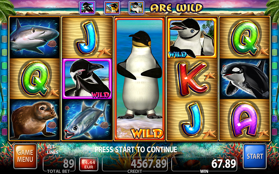 Penguin Party Video Slot Game - Free Games Mode