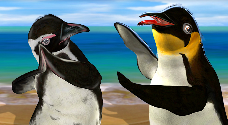 Penguin Party - Main slot game characters